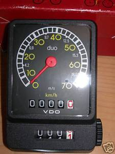 Mechanical VDO bike speedometer