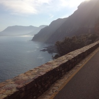 Chapmans Peak in the mist